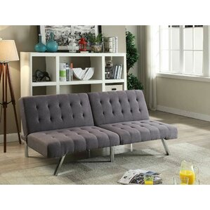 Bobkona Cleavon Convertible Sofa by Poundex