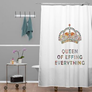 Bianca Green Her Daily Motivation Extra Long Shower Curtain