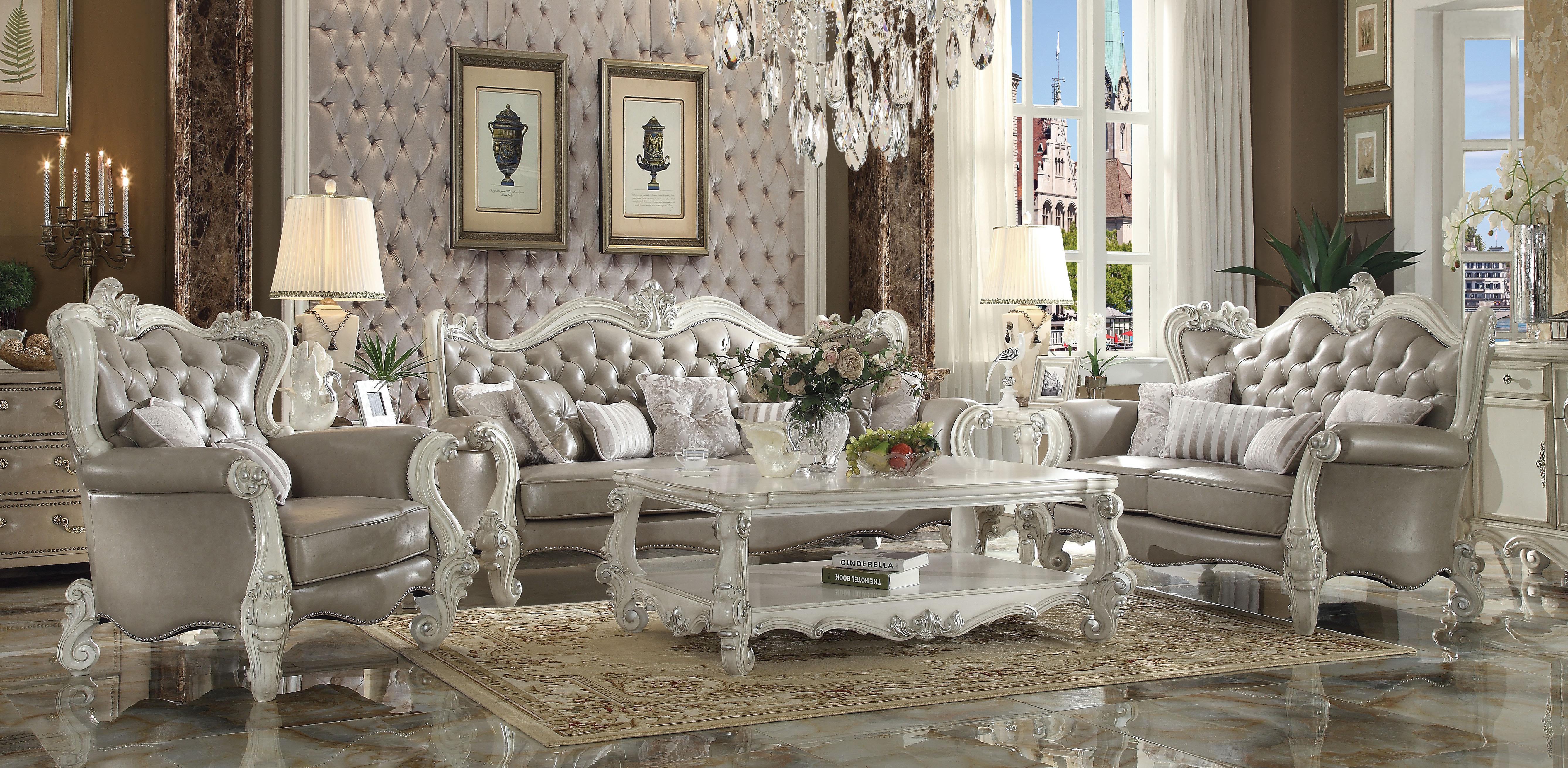 ACME Furniture Versailles Configurable Living Room Set U0026 Reviews   Wayfair