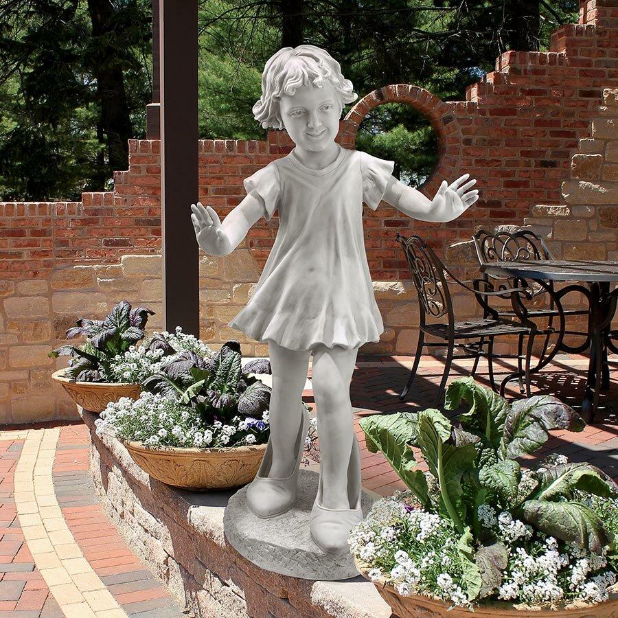 Wayfair Garden Statues: Design Toscano Hillary In Heels Garden Girl Statue
