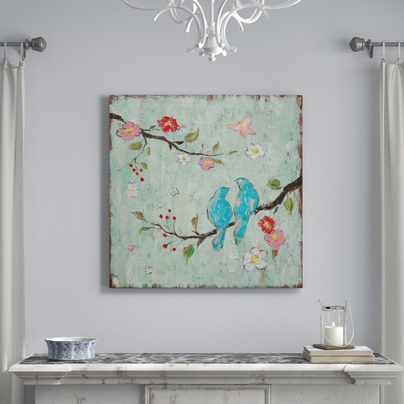 Love Birds I Painting Print On Canvas