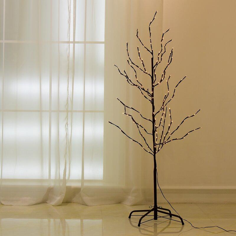 The Holiday Aisle Light Branch Floor Tree Wayfair
