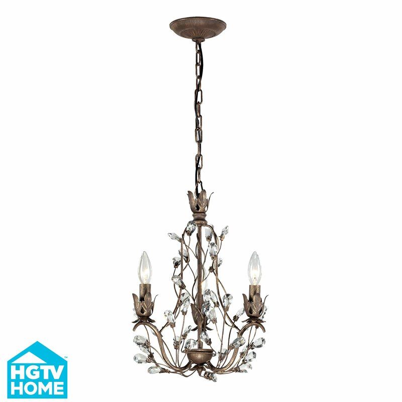House of Hampton Creed 3-Light Crystal Chandelier & Reviews | Wayfair