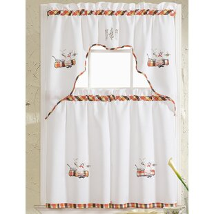 Grand Chef Embroidered Kitchen Curtain