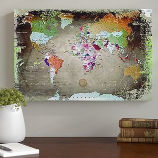 Large world map canvas wayfair world map photographic print on canvas gumiabroncs Images