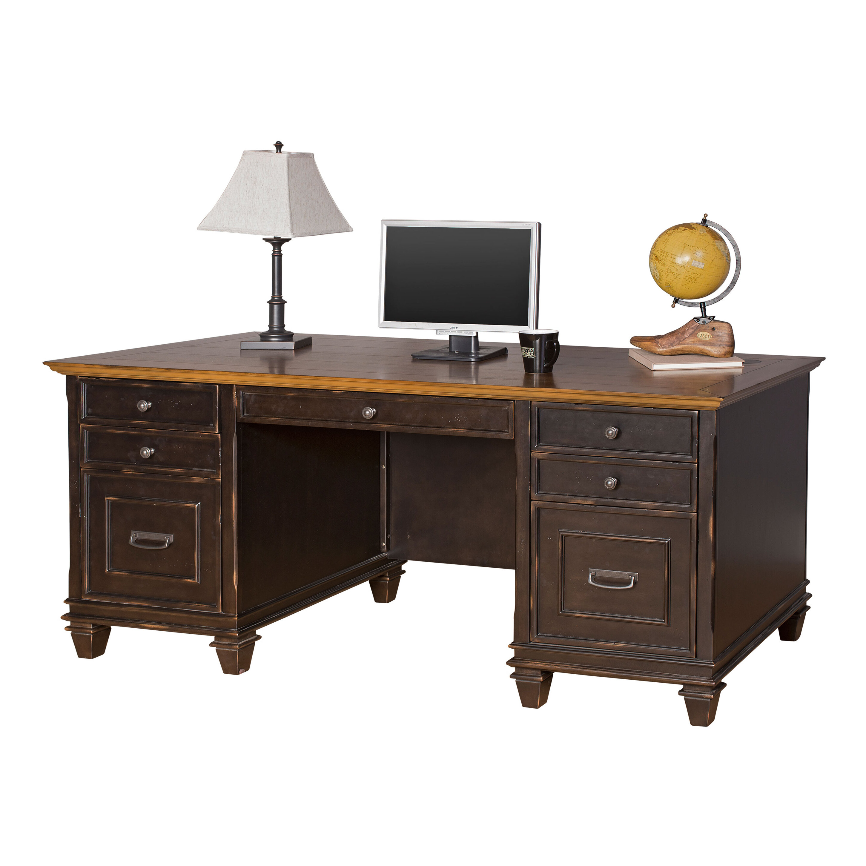 Cool Django Solid Wood Executive Desk Home Interior And Landscaping Mentranervesignezvosmurscom