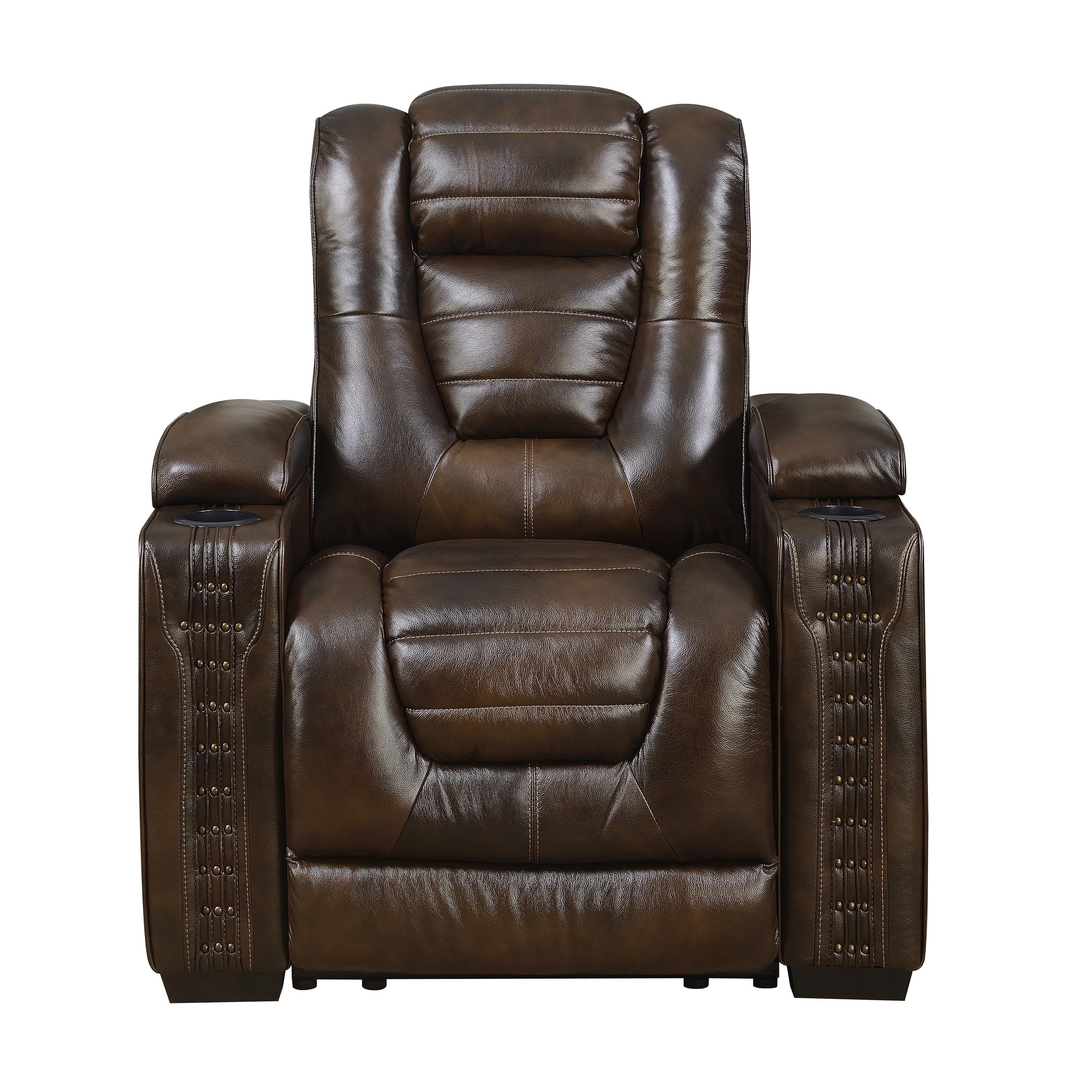 Red barrel studio barnhart leather power recliner wayfair