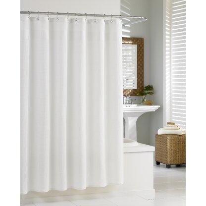 Waffle Cotton Shower Curtain
