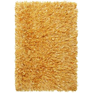 Shimmer Hand Loomed Yellow Area Rug