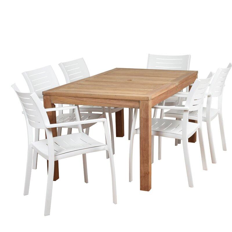 Sol 72 Outdoor Brighton Teak 7 Piece Dining Set