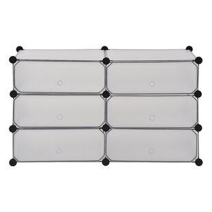 Modular Cube Storage 12 Pair Stackable Shoe Rack