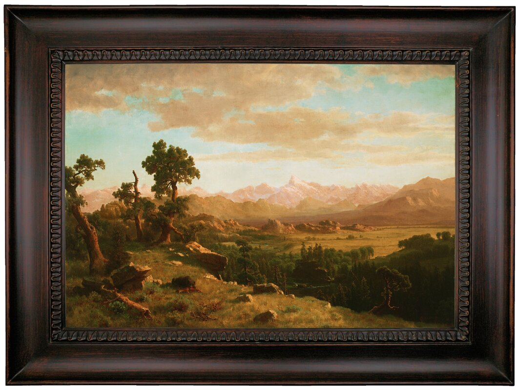 Darby home co wind river country framed oil painting print on wind river country framed oil painting print on canvas jeuxipadfo Choice Image