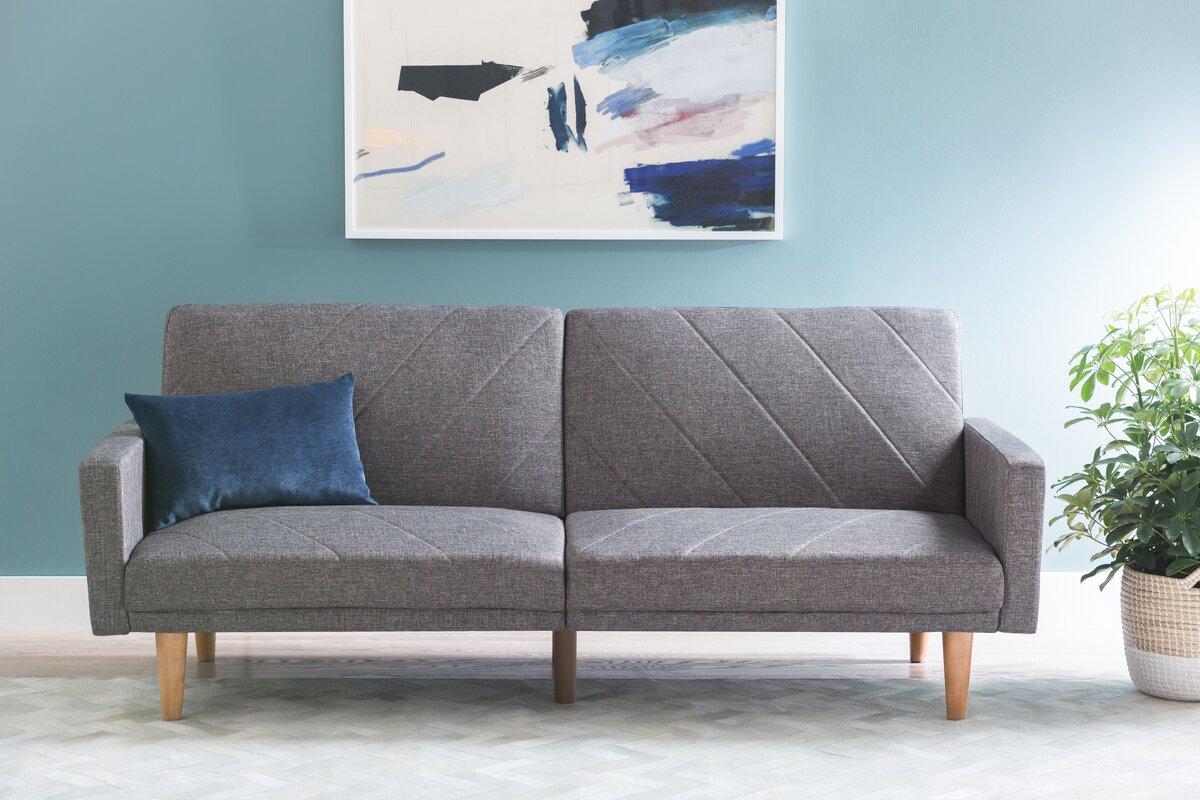 furniture convertible reviews langley futon pdx tulsa sofa street futons heritage wayfair