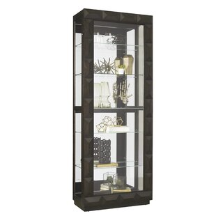 Dubin Lighted Curio Cabinet Cool