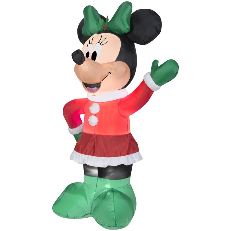 airblown inflatables christmas holiday minnie decoration - Christmas Airblown Inflatables