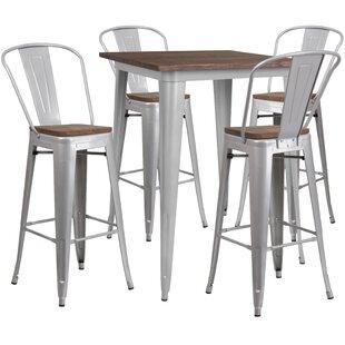 Prins 5 Piece Pub Table Set