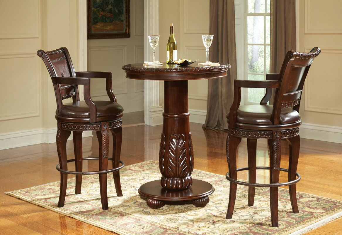 pub set bar cheap stools and style round table dining sets kitchen country bistro chairs