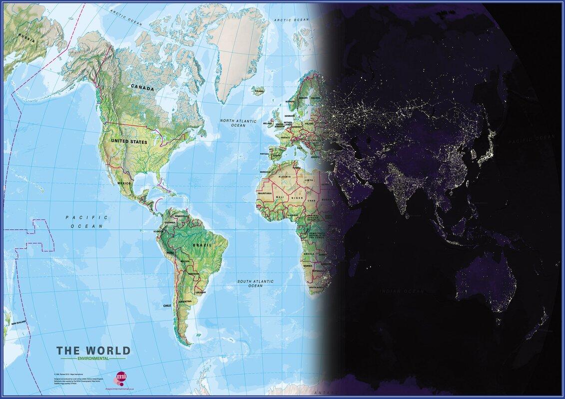 Dcor design world map motion graphic art print reviews wayfair world map motion graphic art print gumiabroncs Images