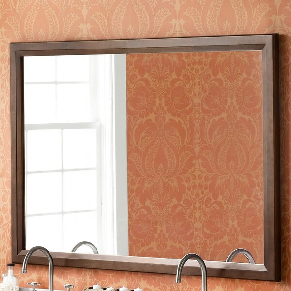 Ronbow Transitional 60 X 39 Solid Wood Framed Bathroom Mirror In Caf Walnut Reviews