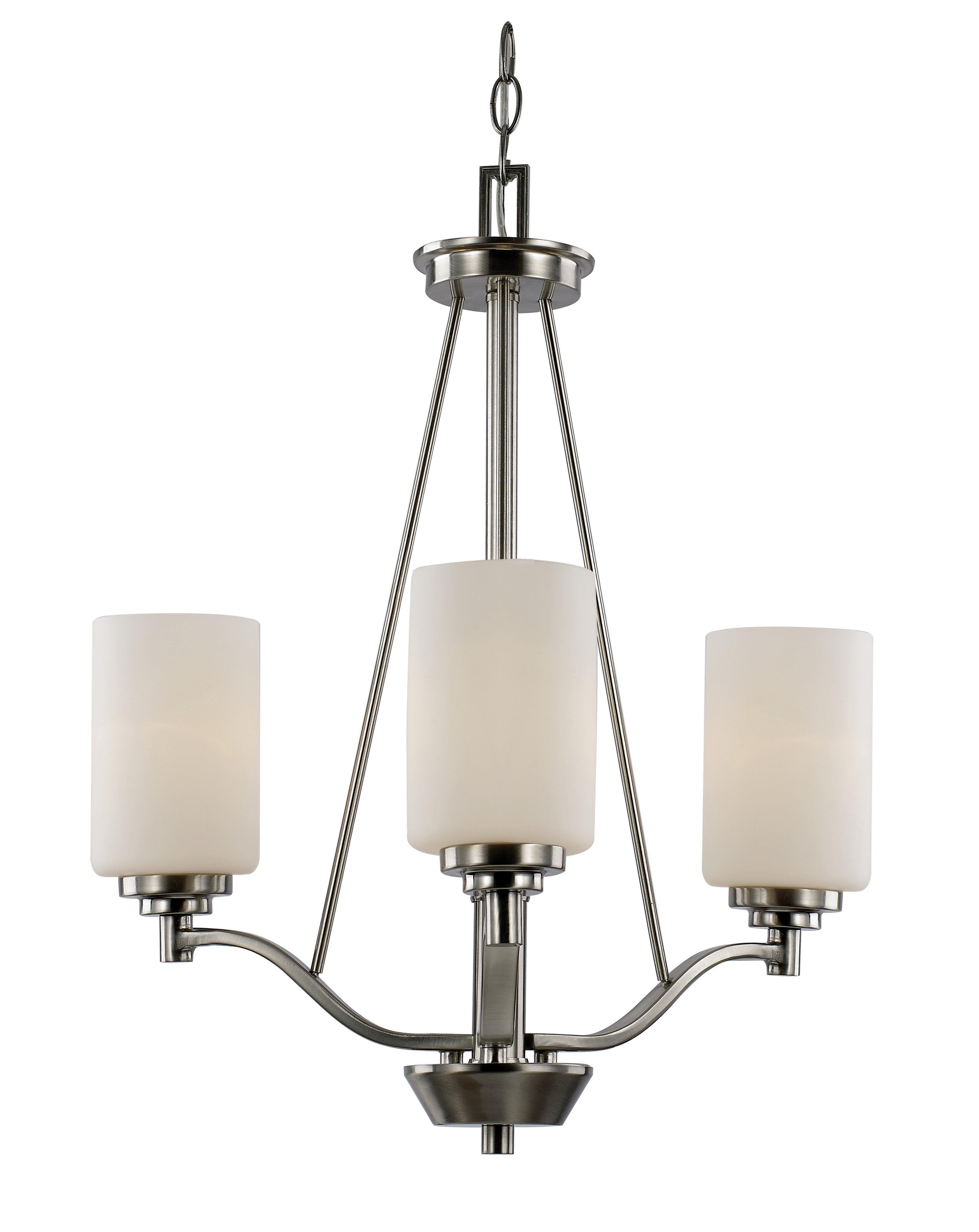 Red barrel studio juli 3 light shaded chandelier reviews wayfair