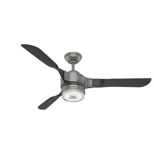 Ceiling fan no light wayfair 54 apache 3 blade ceiling fan with light aloadofball Image collections