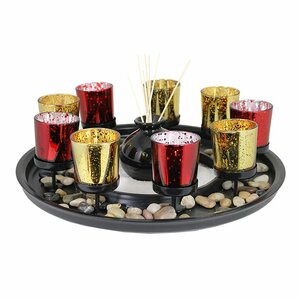 11 Piece Glass Candle Holder Set