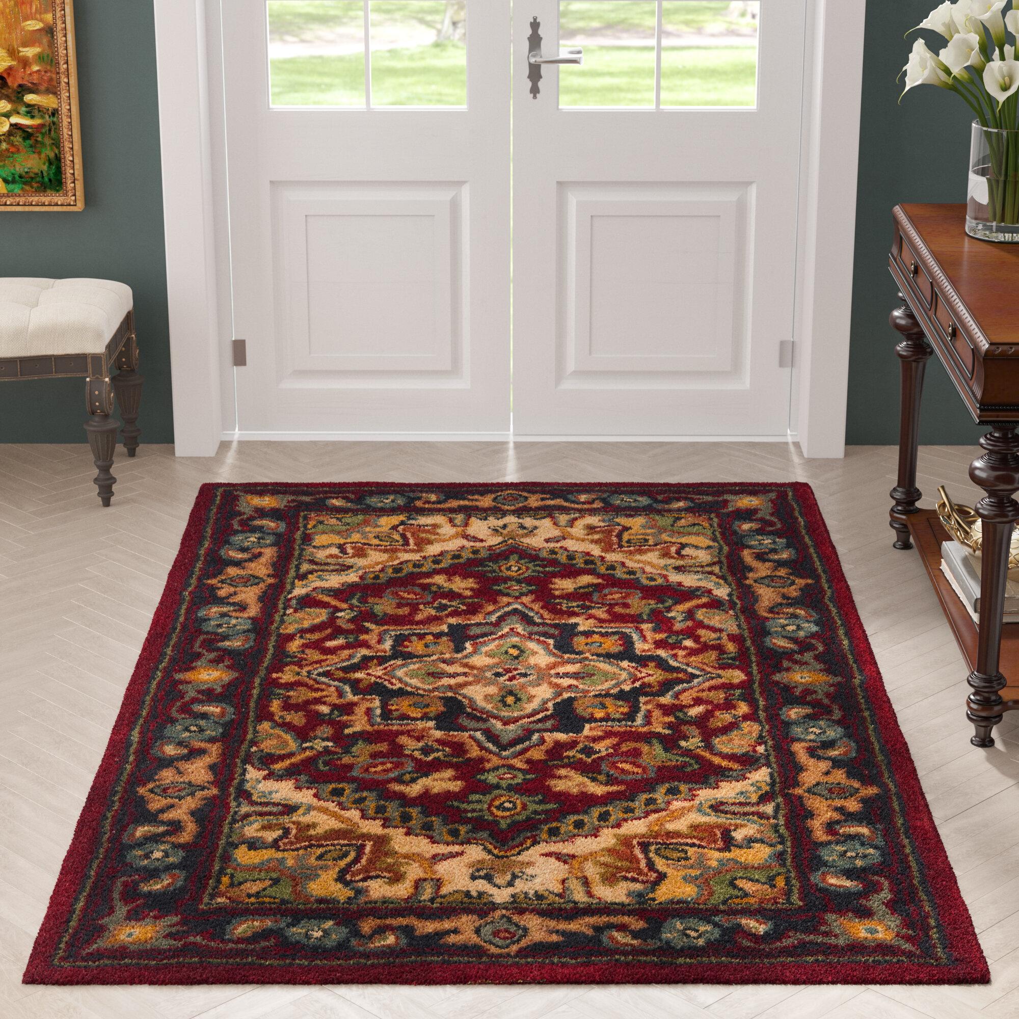 Astoria grand balthrop red oriental area rug reviews wayfair