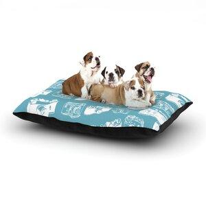 'Camera' G. Blu Dog Pillow with Fleece Cozy Top