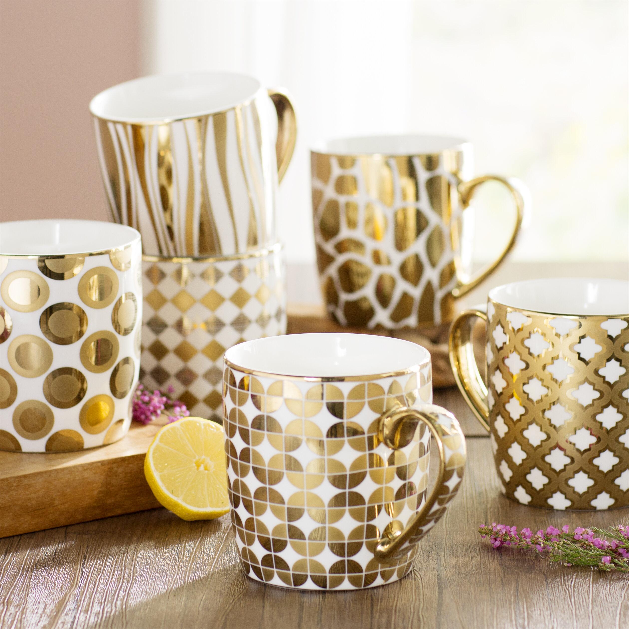 Willa Arlo Interiors Blayze 6 Piece Barrel Coffee Mug Set Reviews Wayfair