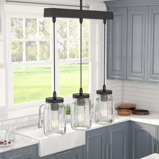 graham 3 light kitchen island pendant - Lights Over Island In Kitchen