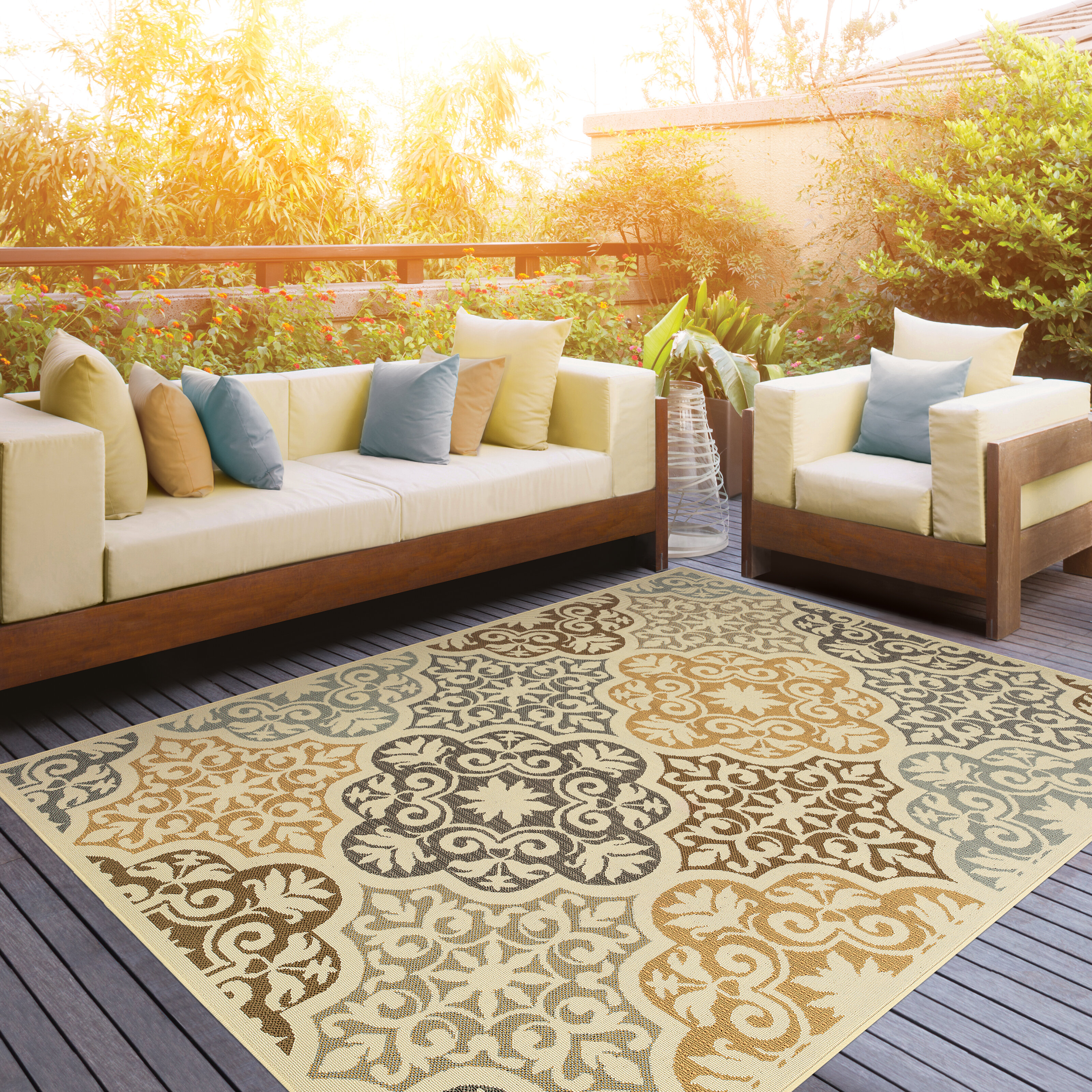Colton Yellow Brown Indoor Outdoor Area Rug Reviews Wayfair