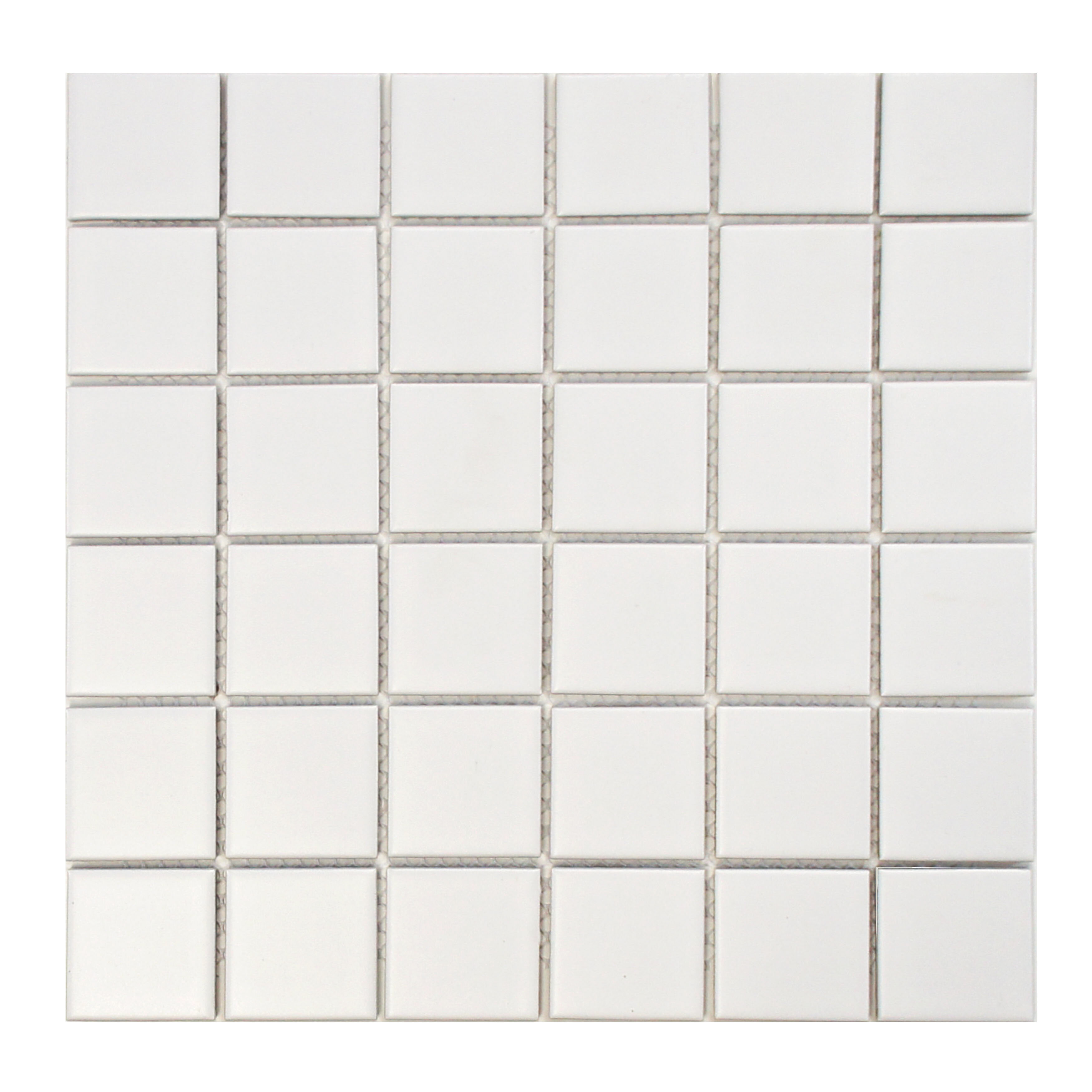 Elitetile Retro Quad 2 X Porcelain Mosaic Tile In Matte White Reviews Wayfair