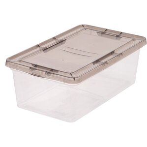 6 quart plastic storage box