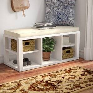 Good Annsville Wood Storage Bench