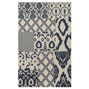 Hinton Indigo Patchwork Hand-Woven Blue Area Rug