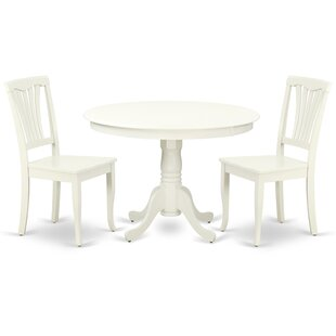 Lamons 3 Piece Solid Wood Breakfast Nook Dining Set