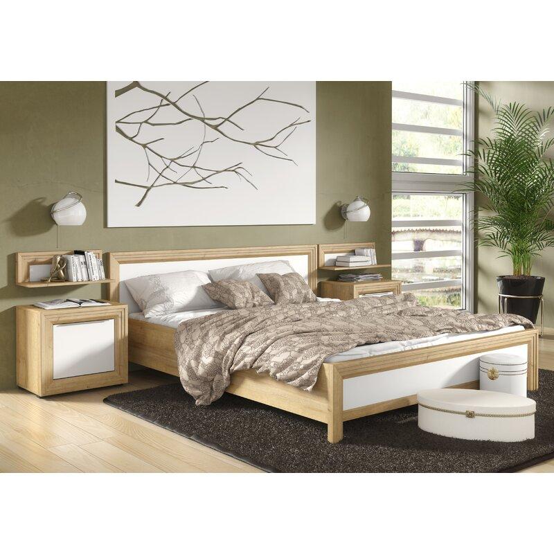 King Size Bed.Fosse European Kingsize Bed Frame With Bedside Cabinets