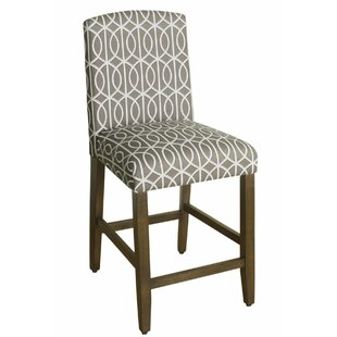 Natascha Fabric Upholstered Wooden Bar Stool