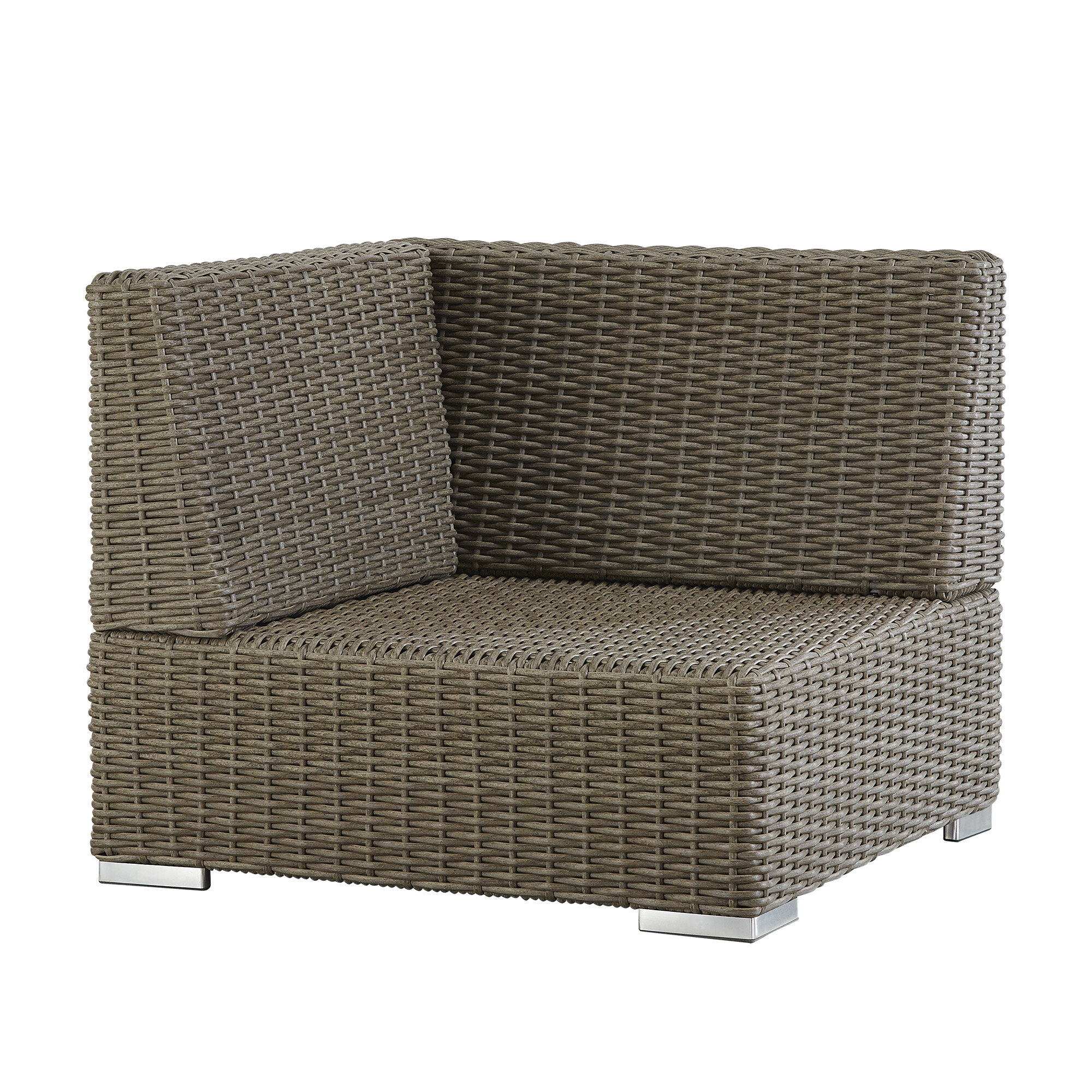 Darby Home Co Rathdowney Wicker Outdoor Sectional Corner Chair | Wayfair