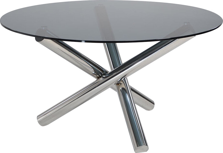 Orren Ellis Camron Contemporary Glass Top Dining Table Wayfair