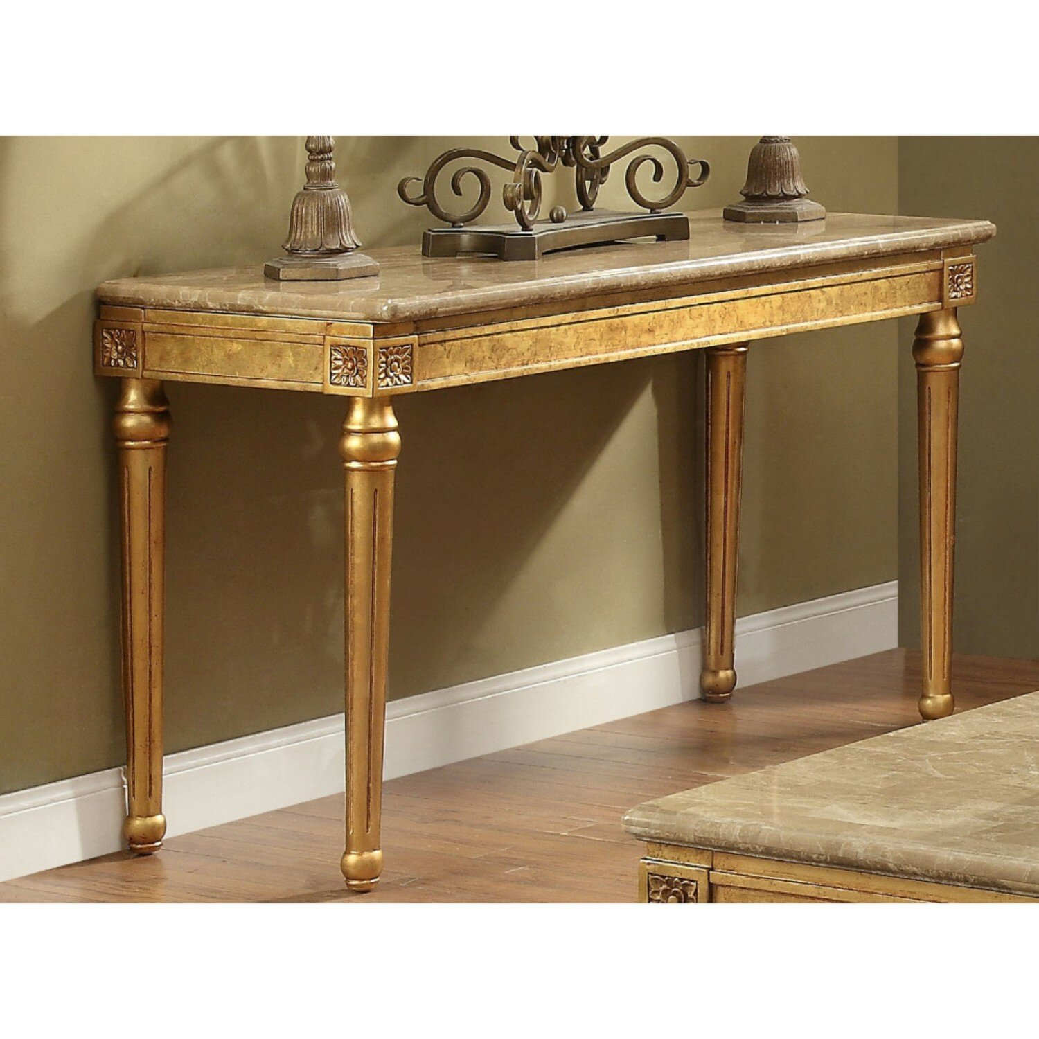 Astoria Grand Tupper Marble Top Console Table Wayfair