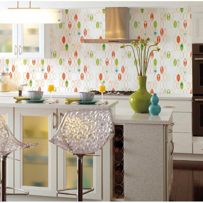 Kitchen Utensils Wallpaper york wallcoverings bistro 750 33' x 20.5'' kitchen utensils food