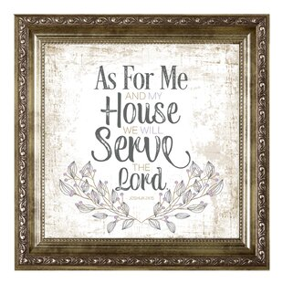 As For Me And My House We Will Serve The Lord Wayfair