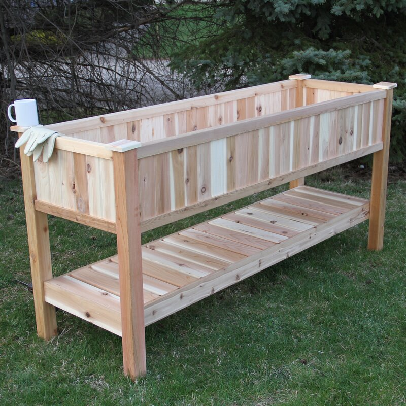 Incroyable 6.5 Ft X 2 Ft Western Red Cedar Raised Garden