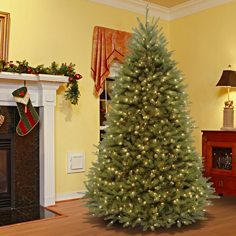 Three Posts 90 H Green Fir Artificial Christmas Tree With 700