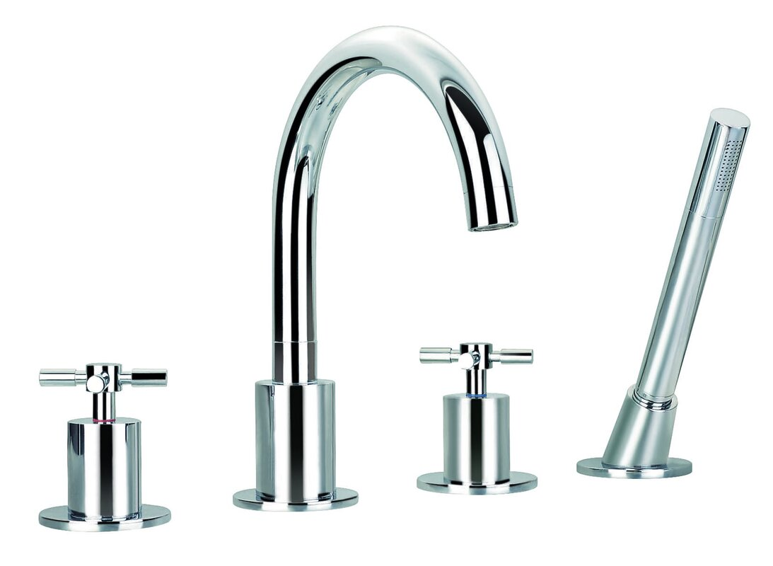 Ancona Prima Double Handle Deck Mount Bathtub Faucet With