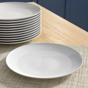 Chacra 7.5\ Coupe Catering Salad Plate (Set of 12) & White Catering Plates | Wayfair