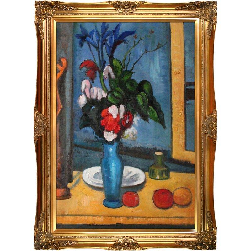 Tori Home Le Vase Bleu By Paul Cezanne Framed Painting Wayfair