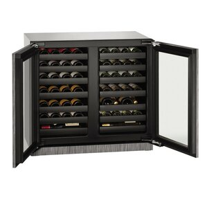62 Bottle 3000 Series Dual Zone Built-in Wine Cellar by U-Line