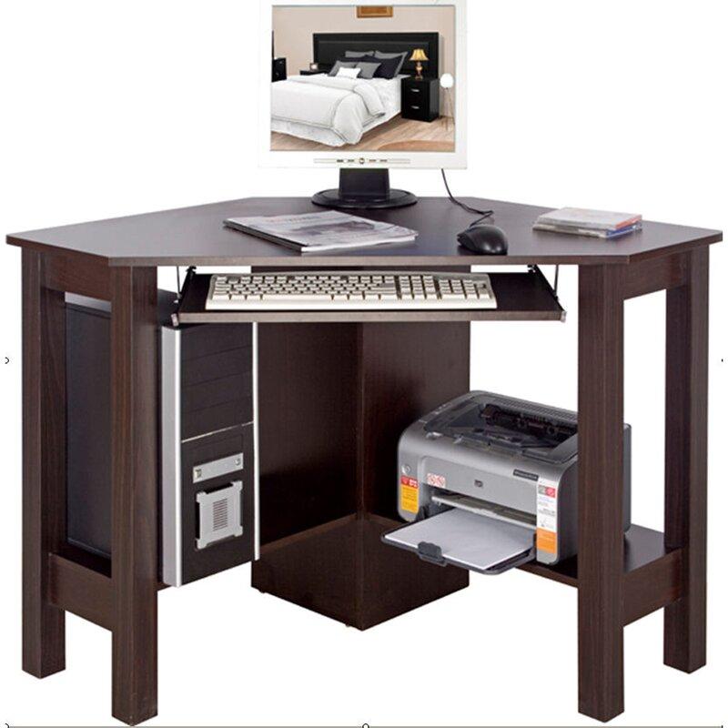 house additions computertisch mit tastaturauszug. Black Bedroom Furniture Sets. Home Design Ideas
